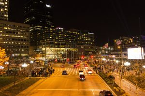 night-time-in-downtown-baltimore-maryland